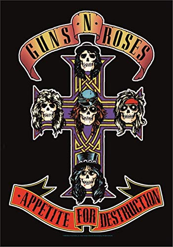 Guns N Roses Appetite For Destruction Large Fabric Poster / Flag 1100mm x 750mm (hr) from Bioworld Merchandising