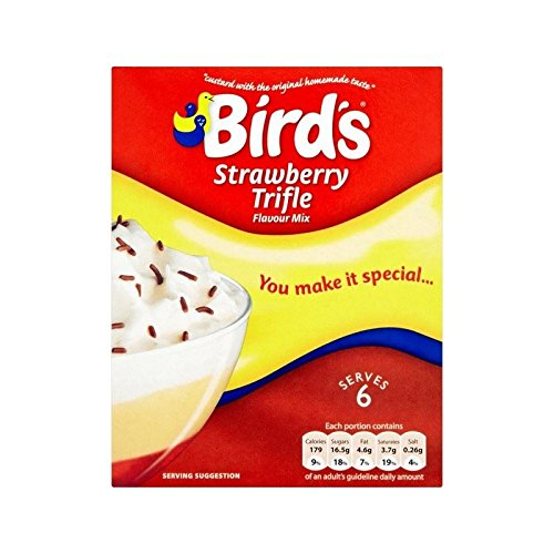 Bird's Trifle Mix Strawberry 141g - Pack of 4 from Birds