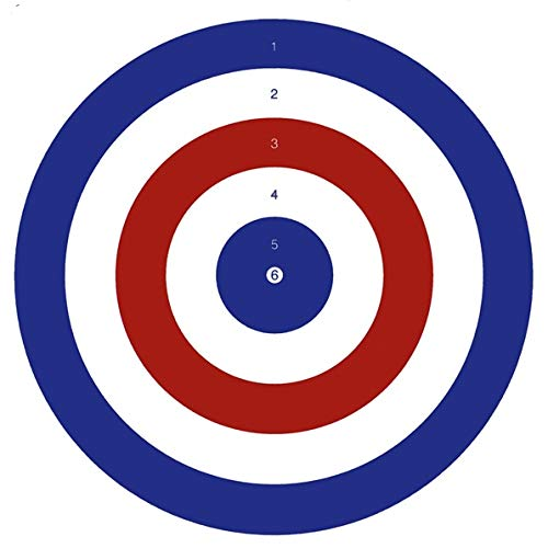 Bisley 17cm Coloured Targets Economy Card Grade 2 Pack of 100 from Bisley