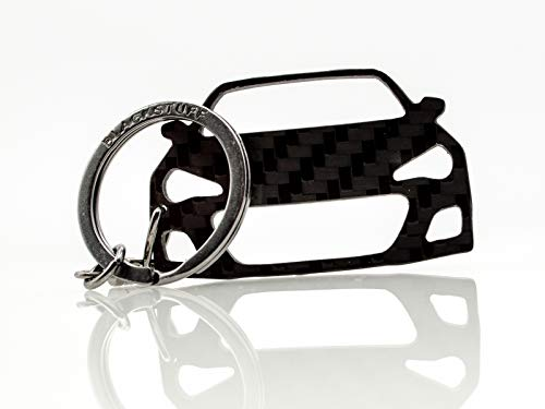 BlackStuff Carbon Fiber Keychain Keyring Ring Holder Compatible with BRZ BS-824 from BlackStuff