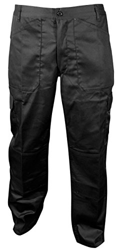 Blackrock Men's Active Cargo Regular Length Trousers Black from Blackrock