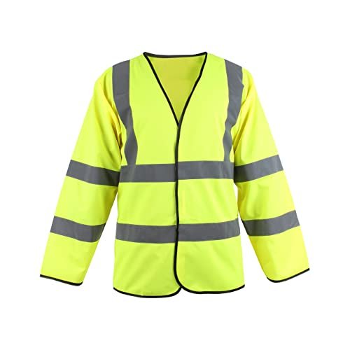 Blackrock Men's Hi-Vis Long Sleeve Waistcoat Yellow EN471 Class 3 from Blackrock