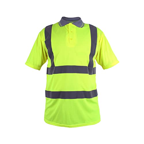 Blackrock Men's Hi-Vis Polo T-Shirt Yellow EN471 Class 2 from Blackrock