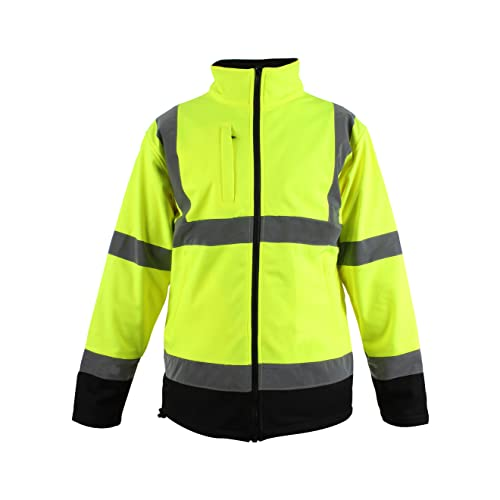 Blackrock Men's Hi-Vis Soft Shell Jacket Yellow/Black EN471 Class 3 from Blackrock