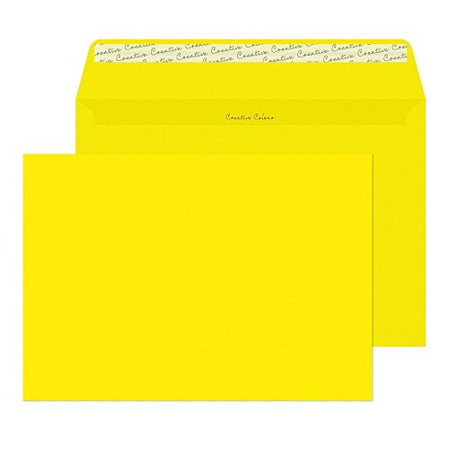 Blake C5 120gsm Peel and Seal Wallet Envelope - Canary Yellow (Pack of 250) from Blake