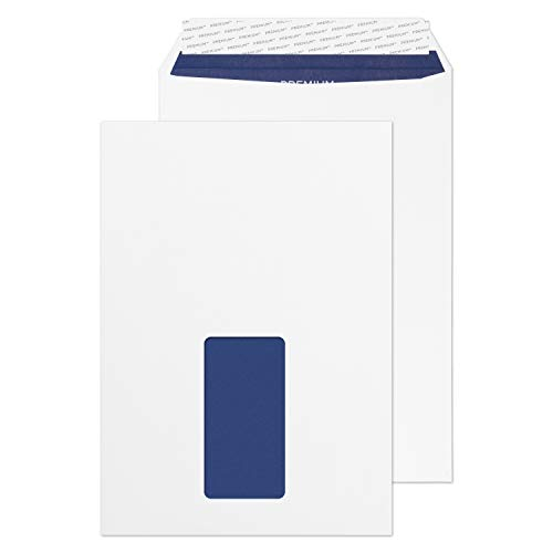 Blake Premium Pure C5 229 x 162 mm 120 gsm Recycled Peel & Seal Window Pocket Envelopes (RP83084) Super White Wove - Pack of 500 from Blake