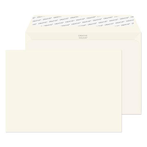 Blake Creative Colour C5 162 x 229 mm 120 gsm Peel & Seal Wallet Envelopes (45351) Milk White - Pack of 25 from Blake