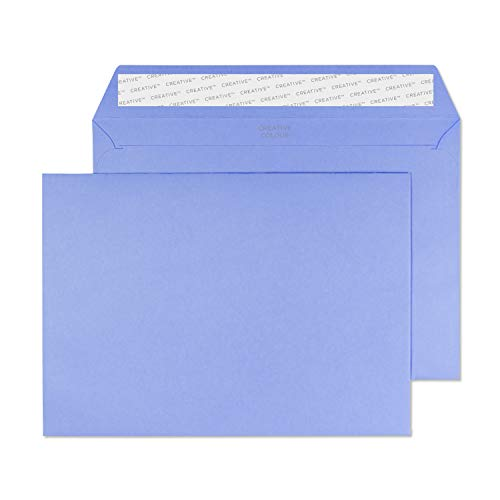 Blake Creative Colour C5 162 x 229 mm 120 gsm Peel & Seal Wallet Envelopes (45311) Summer Violet - Pack of 25 from Blake
