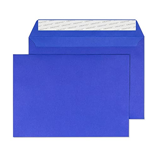 Blake Creative Colour C5 162 x 229 mm 120 gsm Peel & Seal Wallet Envelopes (45343) Victory Blue - Pack of 25 from Blake