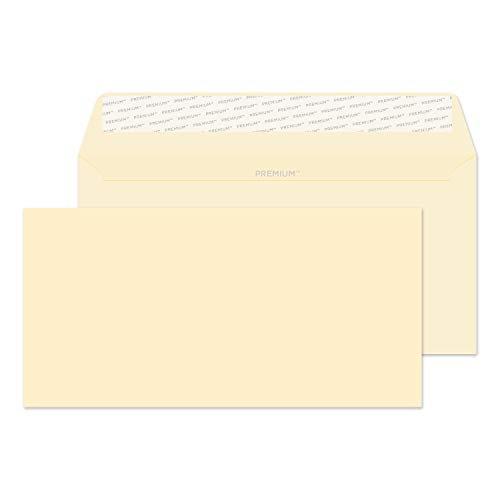 Blake Premium Business DL 110 x 220 mm 120 gsm Peel & Seal Wallet Envelopes (61255) Cream Wove - Pack of 50 from Blake