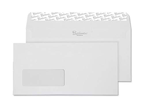 Blake Premium Business DL 110 x 220 mm 120 gsm Peel & Seal Wallet Window Envelopes (35264) High White Wove - Pack of 25 from Blake