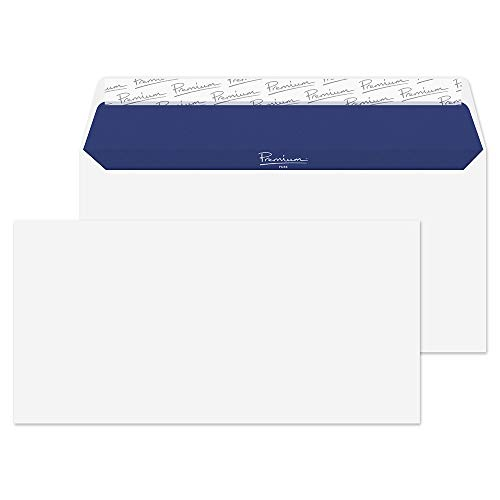Blake Premium Pure DL 110 x 220 mm 120 gsm Recycled Peel & Seal Wallet Envelopes (RP81882) Super White Wove - Pack of 500 from Blake