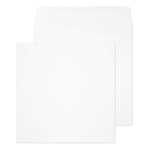 Blake Purely Everyday 190 x 190 mm 100 gsm Square Wallet Gummed Envelopes (0190SQ) White - Pack of 500 from Blake