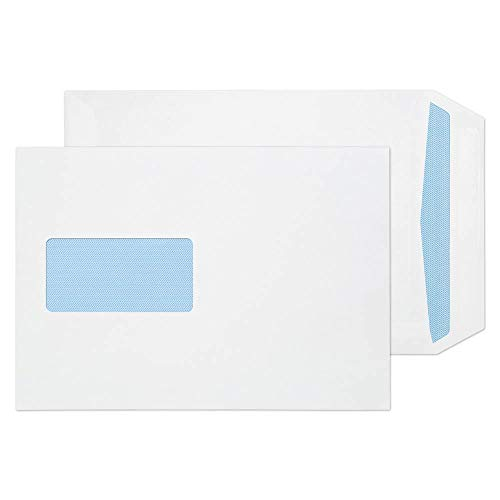Blake Purely Everyday C5 229 x 162 mm 90 gsm Self Seal Window Pocket Envelopes (13084) White - Pack of 500 from Blake