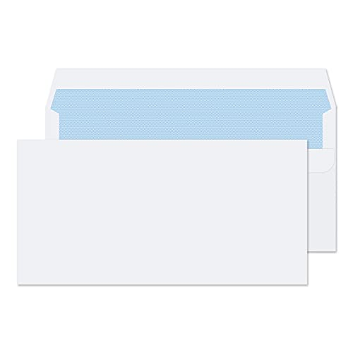 Blake Purely Everyday DL 110 x 220 mm 100 gsm Wallet Self Seal Envelope (7772) White - Pack of 500 from Blake