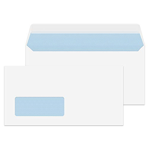 Blake Purely Everyday DL 110 x 220 mm 100 gsm Window Peel & Seal Wallet Envelopes (23884) White - Pack of 500 from Blake