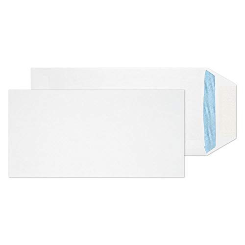 Blake Purely Everyday DL 220 x 110 mm 90 gsm Pocket Gummed Envelopes (23701) White - Pack of 1000 from Blake