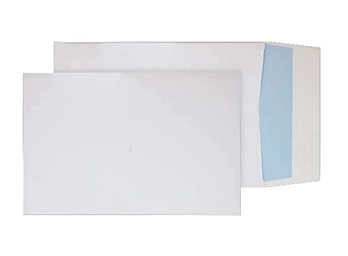 Blake Purely Packaging B4 350 x 250 x 25 mm 140 gsm Gusset Pocket Peel & Seal Envelopes (41060) White - Pack of 125 from Blake