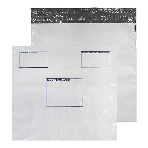 Blake Purely Packaging 430 x 460 mm Polypost Polythene Mailing Bag Envelopes Peel & Seal (PE84/W) White - Pack of 100 from Blake