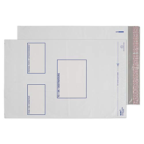 Blake Purely Packaging C3+ 430x330 mm Polypost Polythene Mailing Bag Envelopes Peel & Seal (PE64/W/100) White - Pack of 100 from Blake