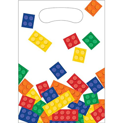 Creative Converting Block Party Plastic Party Loot Bags (8 Pack) from Block Party