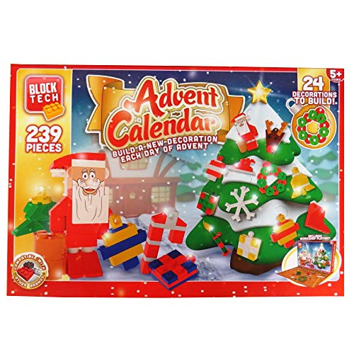 Block Tech Christmas Advent Calendar 239 Pieces Build 24 Decorations Blocks Bricks Xmas Childrens 5+ from Block Tech