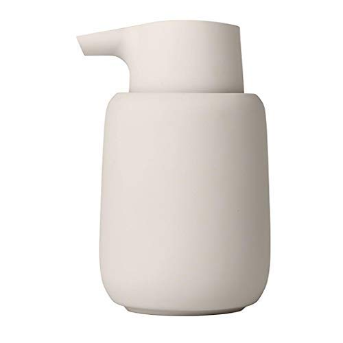 Blomus Soap Dispenser, Ceramic, plastic, silicone, Moonbeam, H 14 cm, T 9,5 cm, Ø 8,5, V 0,25 l from blomus