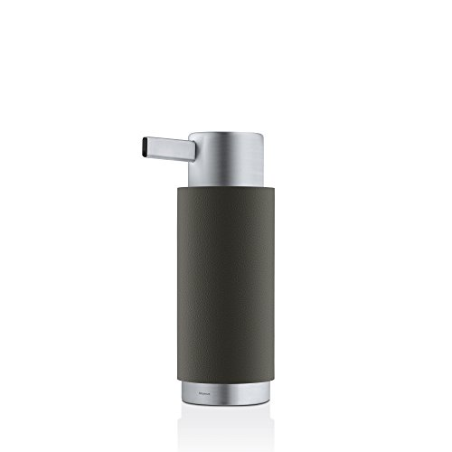 blomus Soap Dispenser, grey, Stainless-Steel, H 17 cm, B 7,5 cm, Ø 6cm, V 150 ml from blomus