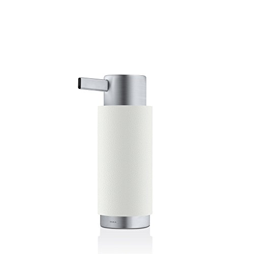 blomus Soap Dispenser, white, Stainless-Steel, H 17 cm, B 7,5 cm, Ø 6cm, V 150 ml from blomus