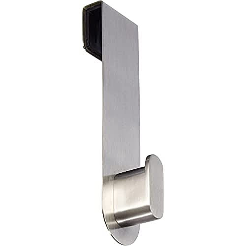 blomus Areo Hook for Glass Shower Panels, Stainless-Steel, Silver Matte, 3.5 x 4 x 14 cm from Blomus