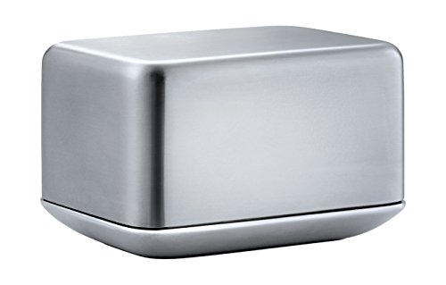 blomus Basic Butter Dish, Stainless Steel, Silver, 10 x 7.2 x 6 cm from blomus