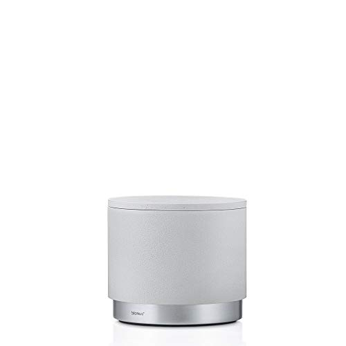 blomus Storage container Ara with lid in moon-grey/silver, Stainless-Steel, 10 x 10 x 8.5 cm from blomus