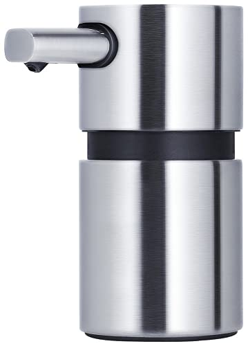 blomus AREO Brushed Soap Dispenser, 110 ml, Matte Stainless Steel, Mini from blomus