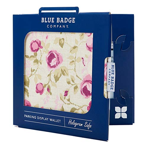 Blue Badge Company Roses Holder Hologram Safe Parking Permit Display Cover Wallet from Blue Badge Company
