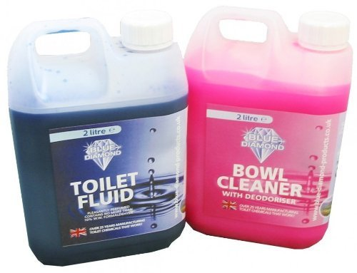 Blue Diamond Twin Pack Toilet Fluid and Bowl Cleaner from Blue Diamond