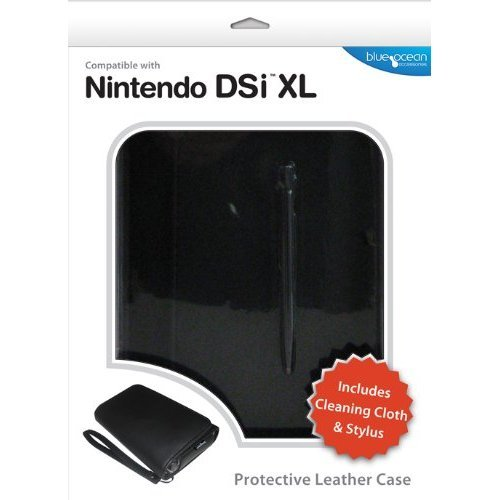Blue Ocean Accessories Leather Case - Black (Nintendo DSi XL) from Blue Ocean