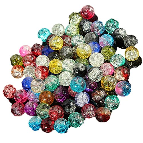 100pcs 8mm Mixed Colourful Glass Crystals Beads for Jewellery Making Crafts DIY from Bluelans