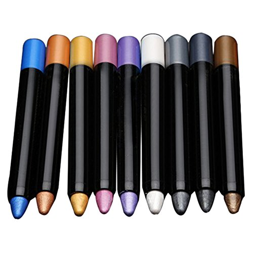Bluelans® 9 Colors Pro Highlighter Eyeshadow Pencil Cosmetics Glitter Eye Shadow Eyeliner Pen from Bluelans
