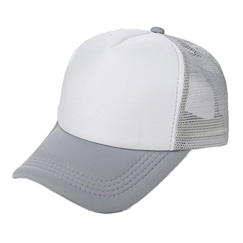 Bluelans® Classic Trucker Cap Half MESH Baseball HAT - 16 Great Colours (Grey/White) from Bluelans