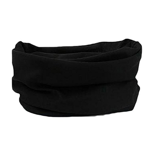 Bluelans® Multifunctional Snood, Scarf, Hat, Neck Warmer, Hood, Balaclava, Face Mask, Headband (Black) from Bluelans