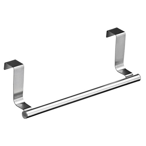 Bluelans Over Bathroom Kitchen Cabinet Door Tea Hand Towel Rail Holder Hanger Storage (36cm, Silver) from Bluelans