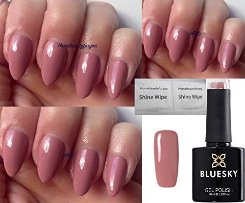 Bluesky Naked Nude Tease Neutral Pink QXG80 Nail Gel Polish UV LED Soak Off 10ml, LIMITED SALE PRICE from Bluesky