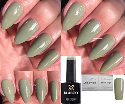 Bluesky GREENS OLIVE GREEN 1908 IVY,Brand New Spring Summer 2019, Nail Gel Polish UV LED Soak Off 10ml from Bluesky