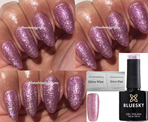 Bluesky Valentine Couture, Pink, Lilac and Silver Glitter Sparkle Nail Gel Polish UV LED Soak Off 10ml from Bluesky