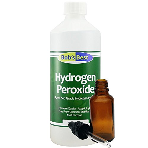 Food Grade Hydrogen Peroxide 3% - 500ml - with 30ml Amber Glass Dropper Bottle from Bob's Best