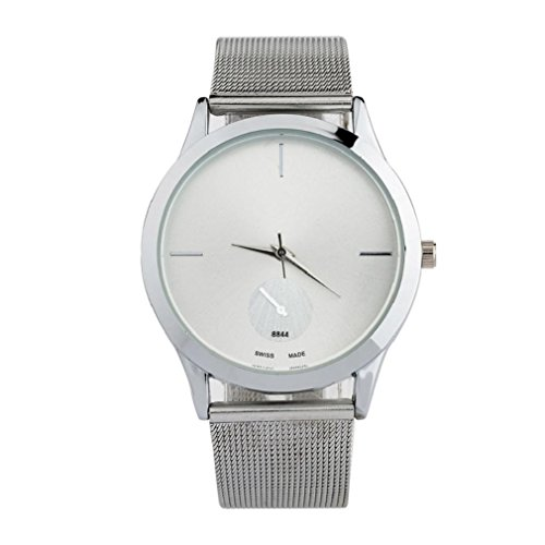 Bodhi2000® Unisex Simple Stainless Steel Mesh Watch Band Quartz Analog Wristwatch from Bodhi2000