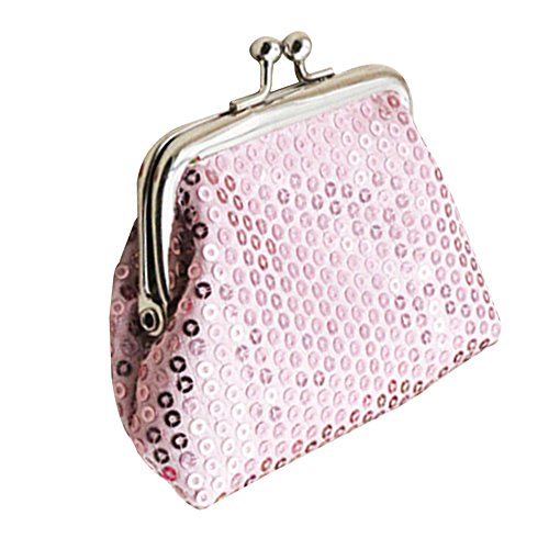 Bodhi2000® Womens Girls Mini Sequins Buckle Coin Purse Small Clutch Wallet from Bodhi2000