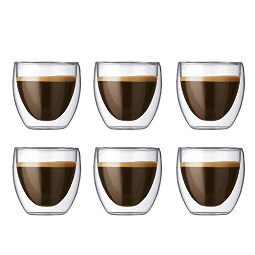 Bodum PAVINA Double Walled Thermo Glasses 0.08 L, 2.5 oz, Set of 6 from Bodum