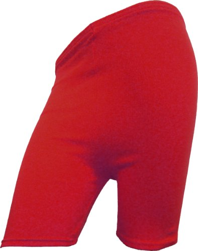 Body2Body Womens Cycling & Dancing Ladies Cycle Cotton Shorts in Assorted Colors (M/L (UK 12-16), Red) from Body2Body