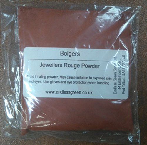 Bolpol - Jewellers Rouge Powder - for final polishing of Gold & Silver jewellery, also for removing minor scratches from glass. ROUGE POWDER 50g from Bolpol